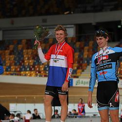 NK Baan 2012 Nino Honigh kampioen achtervolging junioren