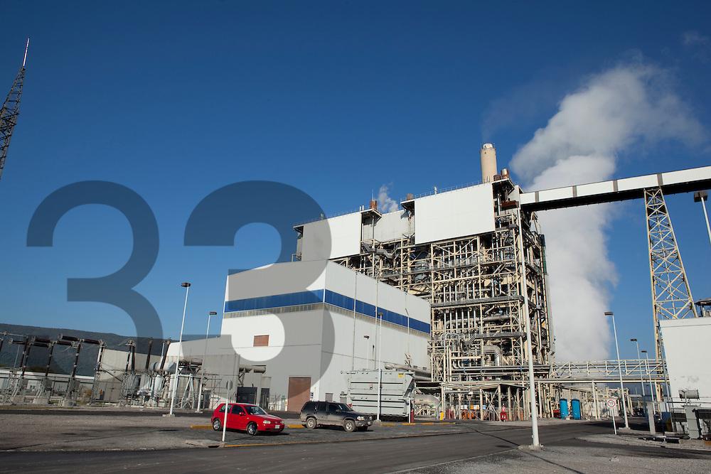 TEP Termoelectrica Peñoles. The Peñoles thermoelectric generator plant in Tamuin, San Luis Potosi. Mexico