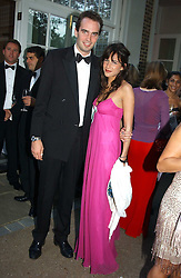 FRITZ VON WESTENHOLTZ and CAROLINE SIEBER at the Game Conservancy Jubilee Ball in aid of the Game Conservancy Trust held at The Hurlingham Club, London SW6 on 26th May 2005<br />