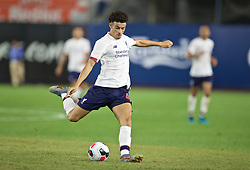 NEW YORK, NEW YORK, USA - Wednesday, July 24, 2019: Liverpool's Curtis Jones during a friendly match between Liverpool FC and Sporting Clube de Portugal at the Yankee Stadium on day nine of the club's pre-season tour of America. (Pic by David Rawcliffe/Propaganda)