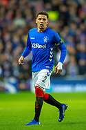 James Tavernier (#2) of Rangers FC during the Europa League group stage match between Rangers FC and Villareal CF at Ibrox, Glasgow, Scotland on 29 November 2018.