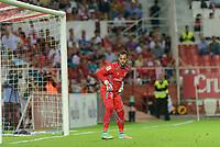 Sevilla's goalkeeper Beto during the match between Sevilla FC and Villarreal day 9 spanish  BBVA League 2014-2015 day 5, played at Sanchez Pizjuan stadium in Seville, Spain. (PHOTO: CARLOS BOUZA / BOUZA PRESS / ALTER PHOTOS)