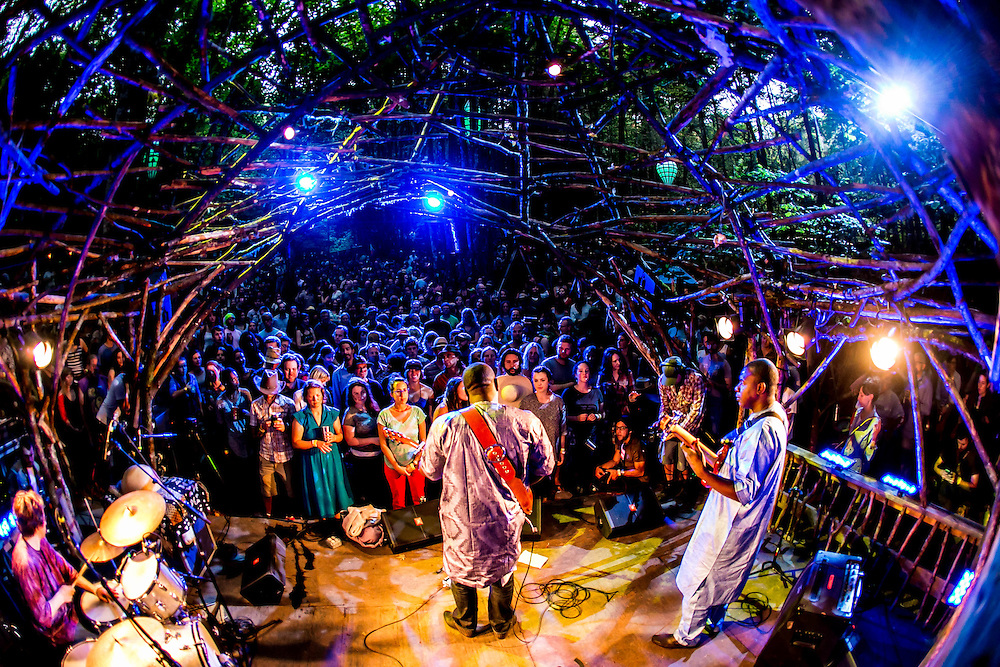Vieux Farka Toure performs at The Woods Stage at Pickathon 2013 at Pendarvis Farm just outside of Portland, OR on Aug 2, 2013. Photo Credit: Michael Orlosky