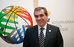 Roman Volcic, president of KZS at Eurobasket 2013 Candidate presentation of Slovenia at FIBA EUROPE Board on December 05, 2010 in Munich, Germany. The Board decided that Eurobasket 2013 will be hold in Slovenia. (Photo By Vid Ponikvar / Sportida.com)