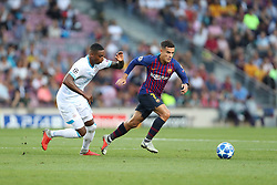 September 18, 2018 - Barcelona, Catalonia, Spain - Philippe Coutinho of FC Barcelona evades Pablo Rosario of PSV Eindhoven during the UEFA Champions League, Group B football match between FC Barcelona and PSV Eindhoven on September 18, 2018 at Camp Nou stadium in Barcelona, Spain (Credit Image: © Manuel Blondeau via ZUMA Wire)