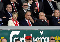 Photo: Jed Wee/Sportsbeat Images.<br /> Liverpool v Arsenal. The Barclays Premiership. 31/03/2007.<br /> <br /> Liverpool's new owners Tom Hicks (C) and George Gillett (R).