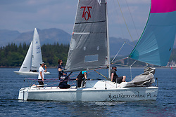 Day 3 Scottish Series, SAILING, Scotland.<br /> <br /> Hunter 707, 7052, Baldrick's Cunning Plan, FYC<br /> <br /> The Scottish Series, hosted by the Clyde Cruising Club is an annual series of races for sailing yachts held each spring. Normally held in Loch Fyne the event moved to three Clyde locations due to current restrictions. <br /> <br /> Light winds did not deter the racing taking place at East Patch, Inverkip and off Largs over the bank holiday weekend 28-30 May. <br /> <br /> Image Credit : Marc Turner / CCC