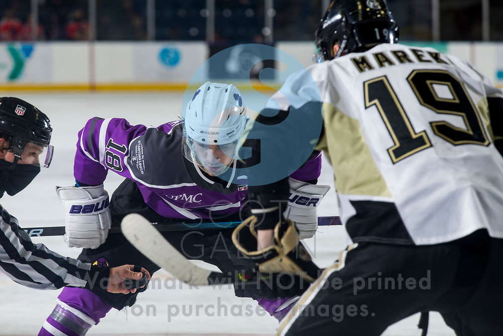 Youngstown Phantoms lose 3-2 in a shootout to the Muskegon Lumberjacks at the Covelli Centre on February 27, 2021.<br /> <br /> Jack Malone, forward, 18