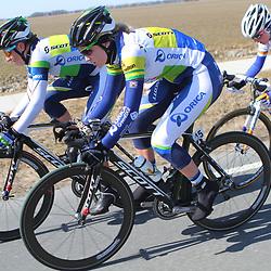 Energiewachttour Stage 5 Uithuizen Loes Gunnewijk, Gracia Elvin, Jolanda Neff