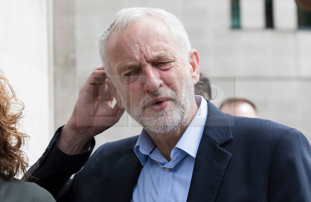 © Licensed to London News Pictures. 30/05/2017. LONDON, UK.  JEREMY CORBYN, Labour leader arrives at BBC Broadcasting House in London to appear on Radio 4's Women's Hour.  Photo credit: Vickie Flores/LNP