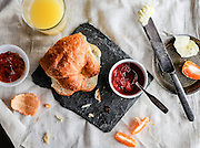 Croissant with Jams and Juice.