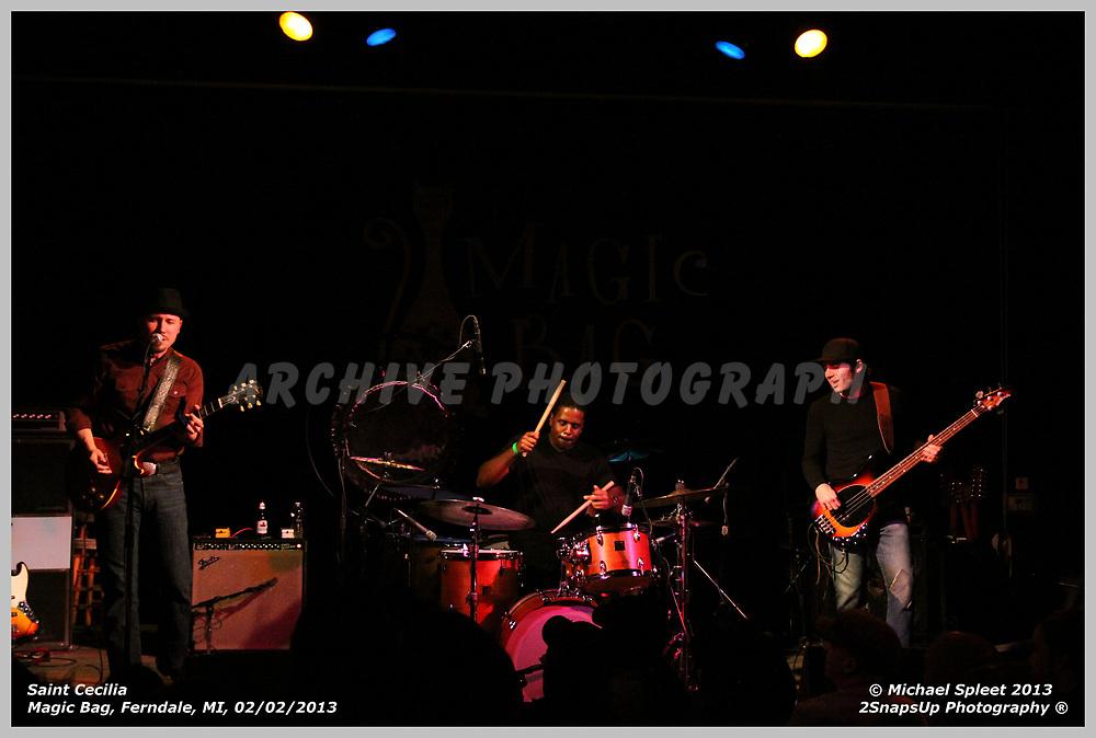 FERNDALE, MI, SATURDAY, FEB. 02, 2013 : Saint Cecilia,  at Magic Bag, Ferndale, MI, 02/02/2013.  (Image Credit: Michael Spleet / 2SnapsUp Photography)