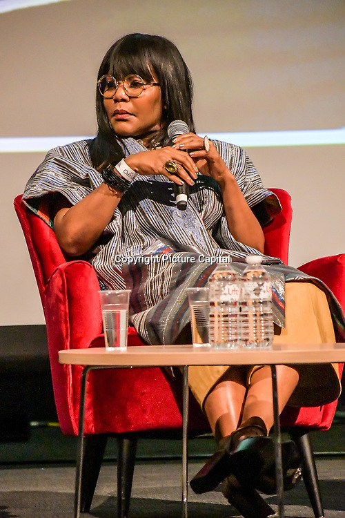 Speakers Reni Folawiyo at The Business of African Fashion at WISH Africa Expo, a showcase of Pan-Africanism at Olympia Conference Centre on 9 June 2019, London, UK.