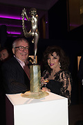 CHRISTOPHER BIGGINS; JOAN COLLINS, Bonhams host a private view for their  forthcoming auction: Jackie Collins- A Life in Chapters' Bonhams, New Bond St.  3 May 2017.