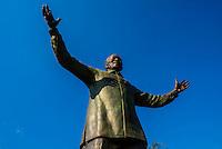 30 foot (9 meter) tall bronze statue of Nelson Mandela, Union Buildings in , Pretoria (Tshwane), South Africa.
