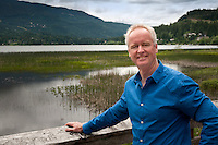 Portraits of Dave Halliwell, a real estate agent in Whistler, BC, taken outside in the summer