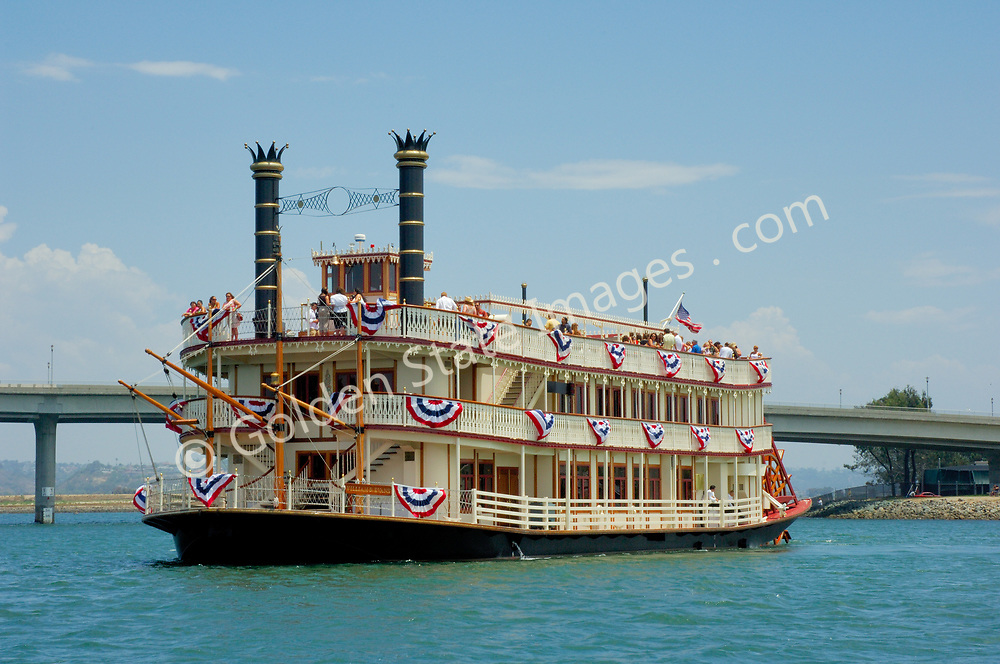 Built in 1987 the William D Evans is a replica of a nineteenth century Mississippi riverboat. Chartered through the Bahia Resort Hotel on Mission Bay for weddings and parties.
