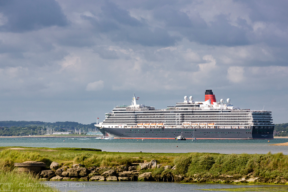 Cunard's luxury liner, Queen Victoria returns to Southampton after undergoing a £34million refurbishment in Palermo, Italy.<br /> **IMAGE PROVIDED FREE FOR EDITORIAL USE**<br /> Picture date Saturday 3rd June, 2017.<br /> Picture by Christopher Ison. Contact +447544 044177 chris@christopherison.com