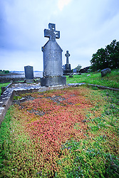 Crosses at Murrisk Abbey at foot of Crough Patrick, County Mayo, Ireland