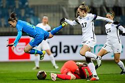 Barbara Kralj of Slovenia vs Karina Kork of Estonia during football match between Slovenia and Estonia in Qualification for UEFA Women's Euro 2022, on December 1, 2020 in Arena Bonifika, Koper, Slovenia. Photo by Matic Klansek Velej / Sportida