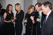 COUNTESS OF DERBY; EARL OF DERBY, Cartier Tank Anglaise launch. Kensington Palace Orangery, London.  19 April 2012.