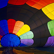 Interior of ballon ready to be flown. Denver, CO. USA.