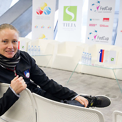 20140129: SLO, Tennis - Press conference of Team Slovenia for Fed Cup 2014