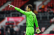 Asmir Begovic (1) of AFC Bournemouth gestures during the EFL Sky Bet Championship match between Bournemouth and Stoke City at the Vitality Stadium, Bournemouth, England on 8 May 2021.