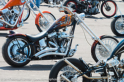 The Rats Hole show at the Sturgis Buffalo Chip's Crossroads area by their west gate during the annual Black Hills Motorcycle Rally. SD, USA. August 7, 2014.  Photography ©2014 Michael Lichter.