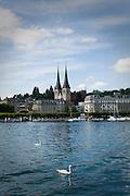 The Church of St. Leodegar in Lucerne, Switzerland.