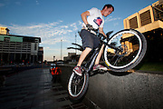 Andrew Guess manoeuvres his trial bike around the city of Cape Town seeking out extreme places to push his limits and do what he loves doing, riding his bike. Picture by Greg Beadle