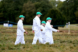 Fans in fancy dress during day two of the British Masters at Walton Heath Golf Club, Surrey.