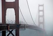 Foggy Morning over Golden Gate Bridge