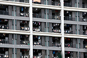Employee dormitories seen at Hon Hai Group's Foxconn plant in Shenzhen, China, on Wednesday, May 26, 2010. Hon Hai is the parts supplier for many hi-tech companies around the world including Apple Inc., Hewlett-Packard Co. and Dell Inc. There have been 12 suicides at the company's 300 thousand employee strong factory complex in Shenzhen so far this year. Foxconn has since moved some of its operations further inland to be closer to labor pool as well as cut costs.