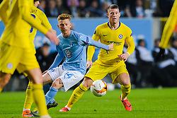 February 14, 2019 - MalmÅ, Sweden - 190214 Anders Christiansen of MalmÅ¡ FF and Ross Barkley of Chelsea during the Europa league match between MalmÅ¡ FF and Chelsea on February 14, 2019 in MalmÅ¡..Photo: Petter Arvidson / BILDBYRN / kod PA / 92225 (Credit Image: © Petter Arvidson/Bildbyran via ZUMA Press)