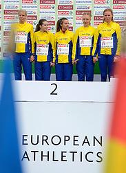 08-12-2013 ATHLETICS: SPAR EC CROSS COUNTRY: BELGRADE<br /> Junior women 4 km / Zilver voor Zweden<br /> ©2013-WWW.FOTOHOOGENDOORN.NL