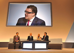 © Licensed to London News Pictures. 27/09/2011. LONDON, UK. Tom Watson takes part in a date about the media. The Labour Party Conference in Liverpool today (27/09/11). Photo credit:  Stephen Simpson/LNP