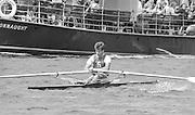 Kingston on Thames, United Kingdom. Richard STANHOPE, Molesy BC., Men's Single Scull  M1X.   The final Round of the Leyland Daf Sprint series, at Kingston RC on the River Thames, Surrey, England, <br /> <br /> Saturday 04.05.1987<br /> <br /> [Mandatory Credit; Peter Spurrier/Intersport-images] 1987 Leyland Daf Sprints, Kingston. UK