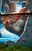 Squirrel mural, Glasgow, Scotland