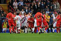 Photo: Tony Oudot/Richard Lane Photography.  Crystal Palace v Watford. Coca-Cola Championship. 09/08/2008. <br /> Palace and Watford players get into a brawl