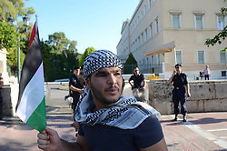 July 21, 2017 - Athens, Greece, Greece - Palestinians demonstrate in Athens against the Israel occupation of Palestine. (Credit Image: © George Panagakis/Pacific Press via ZUMA Wire)