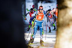 Jaroslav Soukup (CZE) competes during Men 12,5 km Pursuit at day 3 of IBU Biathlon World Cup 2015/16 Pokljuka, on December 19, 2015 in Rudno polje, Pokljuka, Slovenia. Photo by Ziga Zupan / Sportida