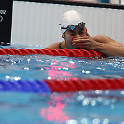 Ranomi Kromowidjojo, The Netherlands, winning the Gold Medal in the Women's 100m freestyle final at the Aquatic Centre at Olympic Park, Stratford during the London 2012 Olympic games. London, UK. 2ndAugust 2012. Photo Tim Clayton