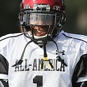 Mike Bellamy during the practice session at the Walt Disney Wide World of Sports Complex in preparation for the Under Armour All-America high school football game on December 3, 2011 in Lake Buena Vista, Florida. (AP Photo/Alex Menendez)