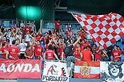 DESCRIZIONE : Pesaro Lega A 2014-15 Consultinvest Pesaro Giorgio Tesi Group Pistoia<br /> GIOCATORE : tifosi<br /> CATEGORIA : tifosi pistoia<br /> SQUADRA : Consultinvest Pesaro Giorgio Tesi Group Pistoia<br /> EVENTO : Campionato Lega A 2014-2015 <br /> GARA : Consultinvest Pesaro Giorgio Tesi Group Pistoia<br /> DATA : 26/04/2015 <br /> SPORT : Pallacanestro <br /> AUTORE : Agenzia Ciamillo-Castoria/C.De Massis<br /> Galleria : Lega Basket A 2014-2015<br /> Fotonotizia : Pesaro Lega A 2014-15 Consultinvest Pesaro Giorgio Tesi Group Pistoia
