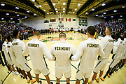 during the men's basketball game between the Bucknell Bison and the Vermont Catamounts at Patrick Gym on Sunday afternoon November 25, 2018 in Burlington. (BRIAN JENKINS/for the FRESS PRESS)