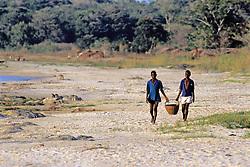 Boys Carrying Basket
