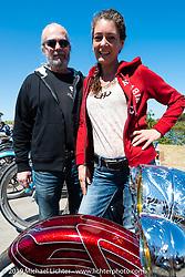 Anita and Peter Penzenstadler of Penz Performance of Austria at the Perewitz Paint Show on Beach Street during Daytona Bike Week. Daytona Beach, FL. USA. Wednesday March 14, 2018. Photography ©2018 Michael Lichter.