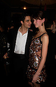 Zac Posen and Margo Stilley. Zac Posen Spring/ Summer collection launch party. The Blue Bar, Berkeley Hotel. London. 7 March 2004. Dafydd Jones,  ONE TIME USE ONLY - DO NOT ARCHIVE  © Copyright Photograph by Dafydd Jones 66 Stockwell Park Rd. London SW9 0DA Tel 020 7733 0108 www.dafjones.com