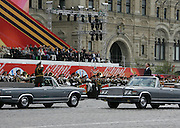 Moscow, Russia, 09/05/2005..Military parade in Red Sqaure marking the 60th anniversary of victory in the Great Patriotic War.